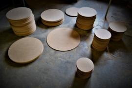 Ronde houten schijven MDF
