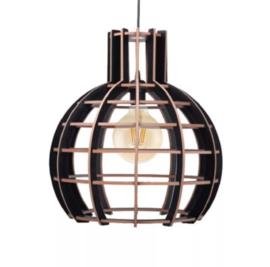Hanglamp 'Globe' semi black
