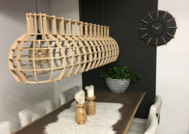 Hanglamp 'Globe Stretch' | naturel