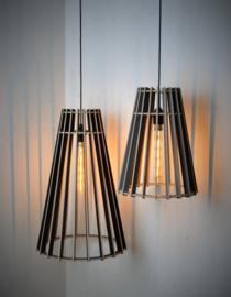 Houten hanglamp Vase 60 semi-black