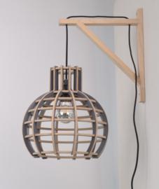 Houten wandsteun incl. snoer (ex. houten lamp!) | naturel
