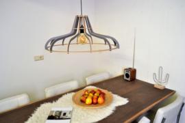 Houten hanglamp Flat 70
