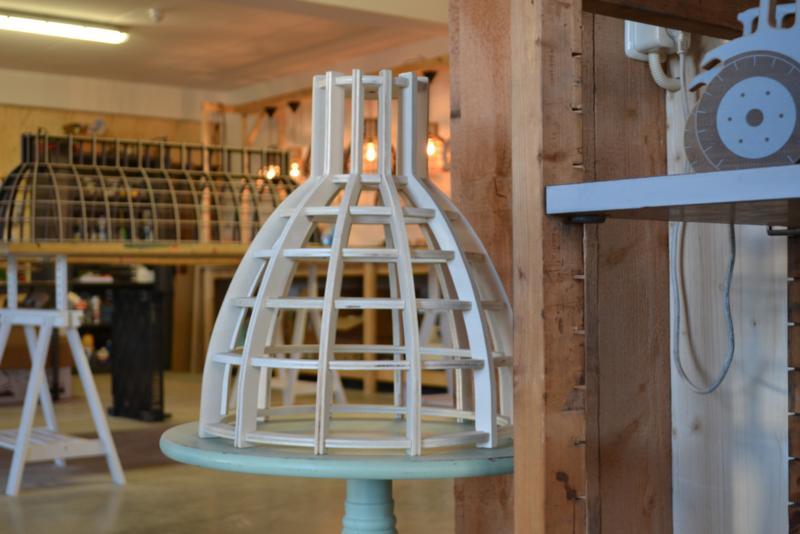 Houten hanglamp Cone 40 multiplex