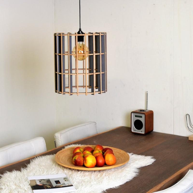 Houten lamp 'Deca 30'