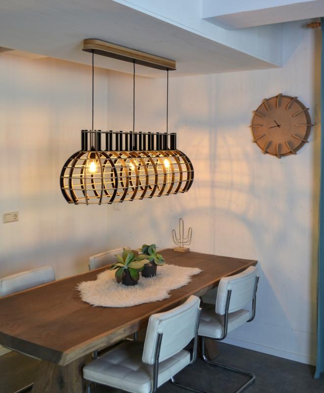 Grote Houten Hanglamp Wit Zwart Grijs De Lingehof Optionele Ophanging T M 160cm Aan Zwart Snoer Standaard Optionele Ophanging Vanaf 200cm Zwarte Ketting Standaard