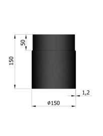 EW150 - 15 cm Zwart Emaille