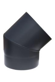 EW/100 0.6mm Zwart Bocht 45°