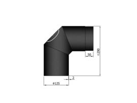 EW125 - Bocht 90° met deur