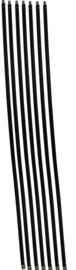 Schoorsteenveegset Basic 8,4  meter met nylonborstel