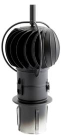 Turbowent draaikap 150 mm - ZWART