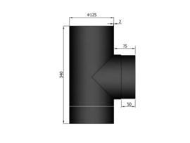 EW125 - T-stuk F/M zonder dop