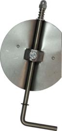 RVS smoorklep/klepsleutel 120 mm