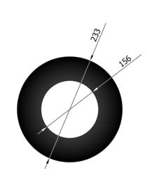 EW150 Rozet smal  Zwart
