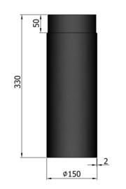 EW150 - 33 cm Zwart