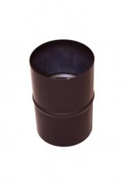 Pelletkachelpijp 80 mm - Mof/sok  Male