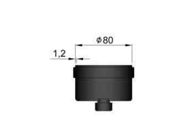 Pelletkachelpijp 100 mm - Dop voor T-stuk met condensafvoer