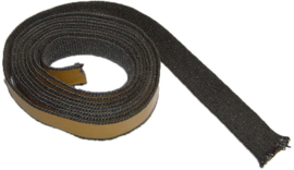 kachelkoord met plakrand 8 x 3 mm zwart 3 mtr