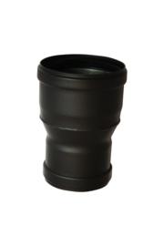 Pelletkachelpijp verloop 80 mm - 100 mm Female/female