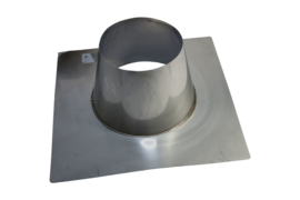 Dakplaat plat 0 - 10° RVS - 200 mm
