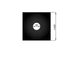 Vierkante afdekplaat/rozet 40 x 40 cm - 90 mm