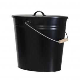 Asemmer 24 liter zwart met deksel