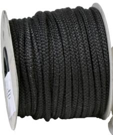 4 mm kachelkoord zwart p/meter