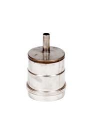Dop voor T-stuk  met condensafvoer RVS 80 mm