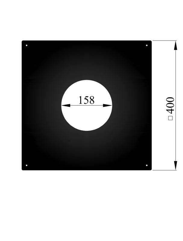 Vierkante afdekplaat/rozet 40 x 40 cm - 158 mm