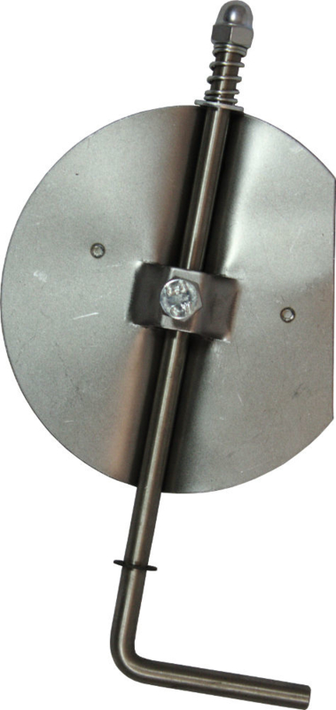 RVS smoorklep/klepsleutel 150 mm