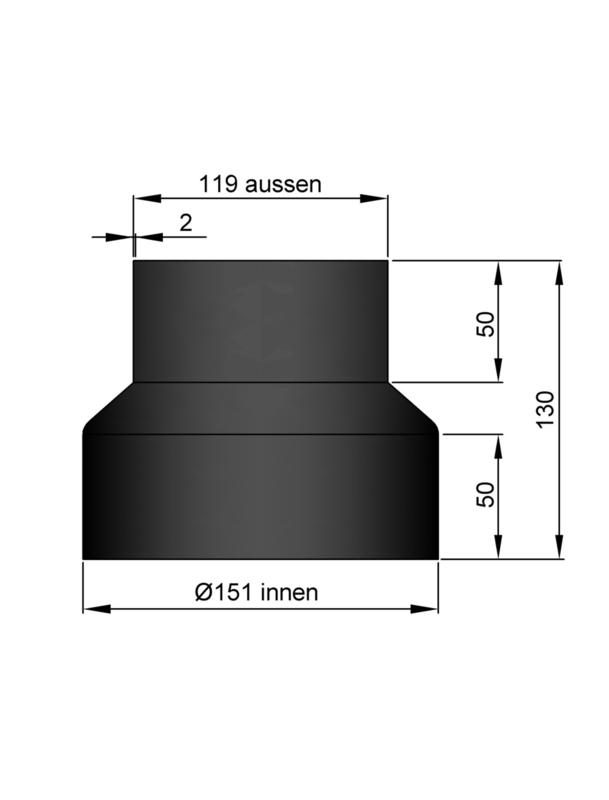 Verloop 119 - 151 Zwart