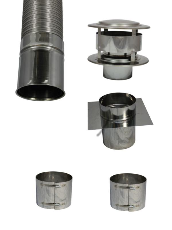 Compleet flexibel rookkanaal 130 mm plus