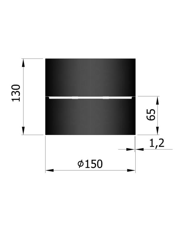 EW150 - Mof F/F Zwart Emaille