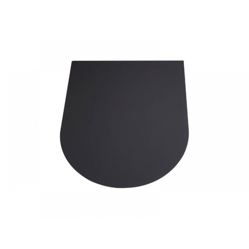 Kachelvloerplaat Halfrond 80 x 100 cm Zwart