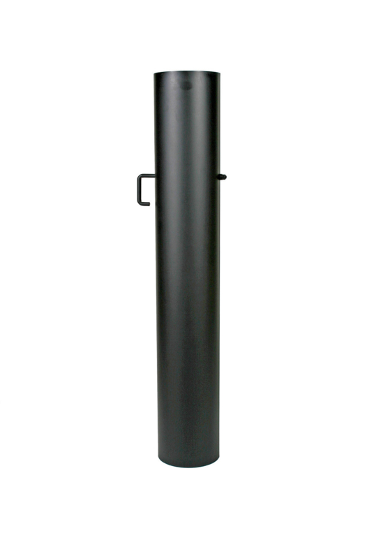EW120 - 100 cm met smoorklep zonder verjonging Zwart