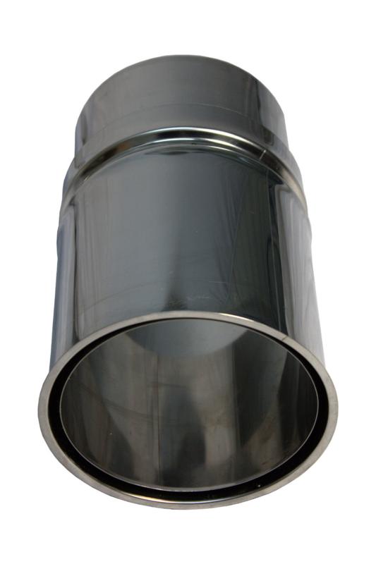 Nisbus aansluiting RVS 130 mm