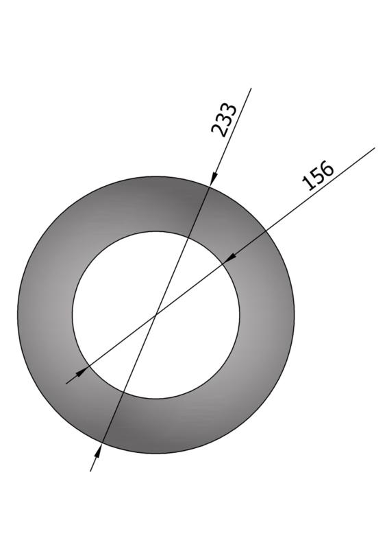 EW150 Rozet smal  Antraciet/Grijs