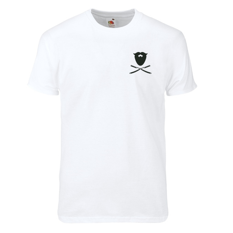 JD`S beard oil -OG MINILOGO- t-shirt  white