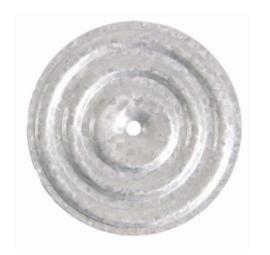 aluzink drukverdeelplaat Ø70x0,5mm (zak 1000 st)