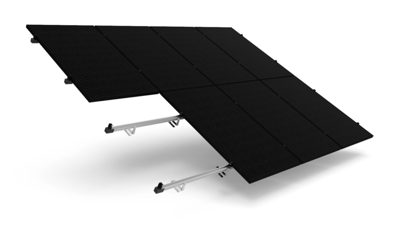 set compleet geleverd en aangebracht 16 panelen 3-fase hellend dak