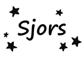 Geboortesticker Naam - Stars
