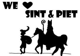 Sinterklaassticker We love Sint & Piet