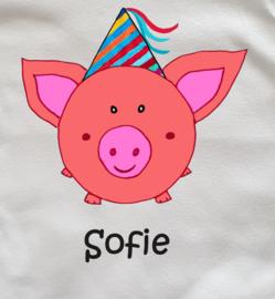 Verjaardagsshirtje feestvarkentje