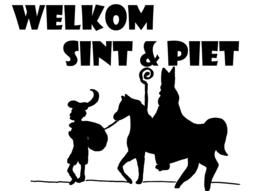 Sinterklaassticker Welkom Sint & Piet