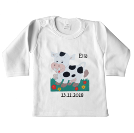 Shirtje voor Ella met geboortebord