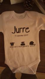 Geboortekaartje rompertje Jurre