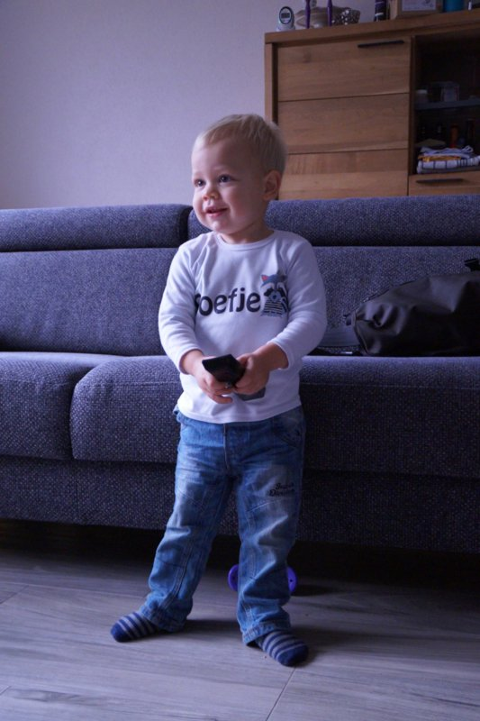 Thijs met shirtje Boefje