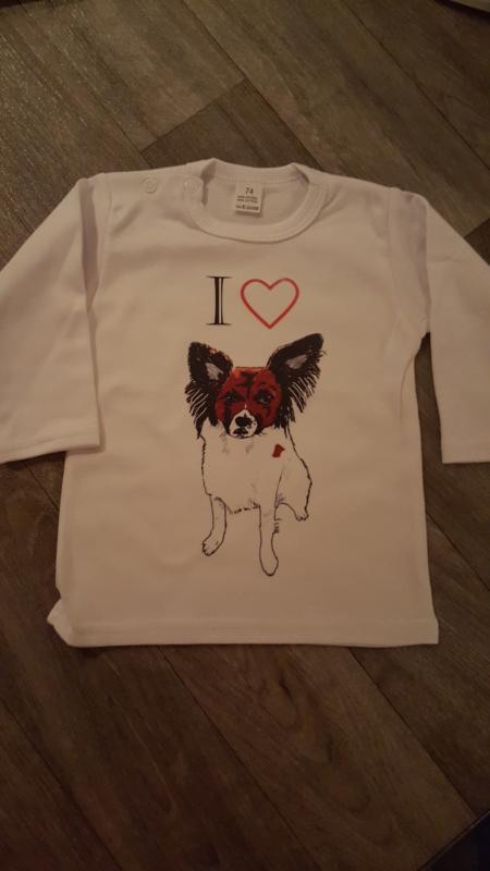 Shirtje Ik hartje mijn huisdier (Luna)
