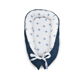 Babynest Blauw Plusjes