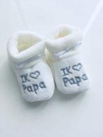 Slofjes I love Papa