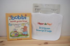 Voorleesboek Bobbi wordt grote broer + slabbetje